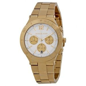 MICHAEL KORS  Over sized Gold White Dial Watch